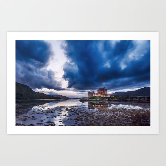 Stormy Skies over Eilean Donan Castle 2 Art Print