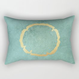 Gold Foil Tree Ring Rectangular Pillow