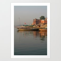 Reflections in the Ganges Art Print