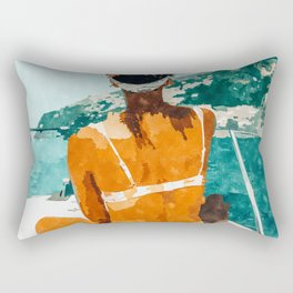 Solo Traveler Rectangular Pillow