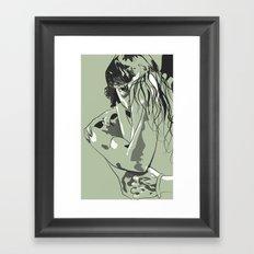 Behind A Woman Framed Art Print
