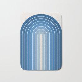 Gradient Arch - Blue Tones Bath Mat