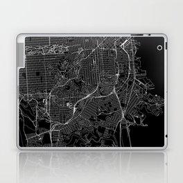 San Francisco Black Map Laptop & iPad Skin