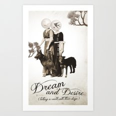 dream and desire -taking a walk with their dogs Art Print