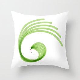 Spora spiral green Throw Pillow