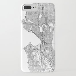 Seattle White Map iPhone Case