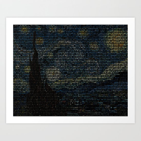 Painting with Words Art Print