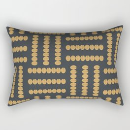 Gold Beans Rectangular Pillow