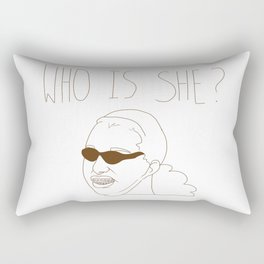 Who is She? Meme Rectangular Pillow