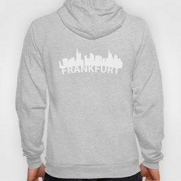 Curved Skyline Of Frankfurt Germany Hoody