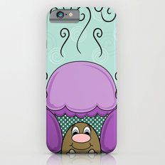 Cute Monster With Purple And Cyan Frosted Cupcakes Slim Case iPhone 6s