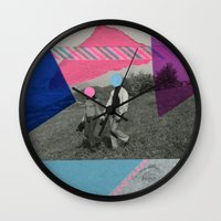 the cure Wall Clocks featuring The Cure by Naomi Vona