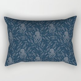 Octopus Squiggly King Of The Sea Pattern Rectangular Pillow