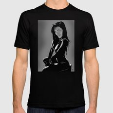 Catwoman Black MEDIUM Mens Fitted Tee
