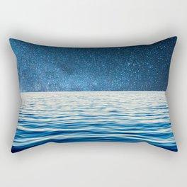 Sailing into space Rectangular Pillow