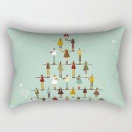 Christmas tree made of children Rectangular Pillow