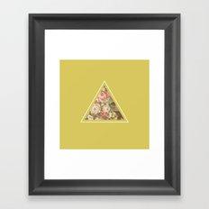 Floribus Trianguli Framed Art Print