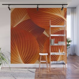 Leaves in Terracotta Color #decor #society6 #buyart Wall Mural
