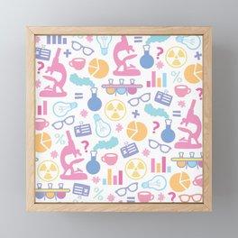 Pastel Science Pattern Framed Mini Art Print