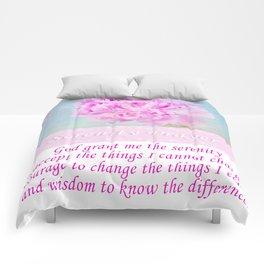 Serenity Prayer With Pink Peony Comforters