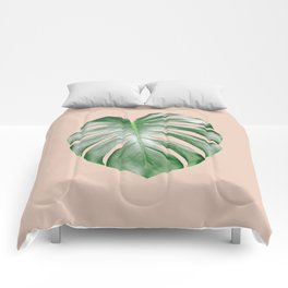 Monstera Dream #2 #tropical #decor #art #society6 Comforters