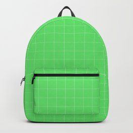 green texture - green squares Backpack