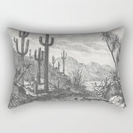 Cactus in Mountain Rectangular Pillow