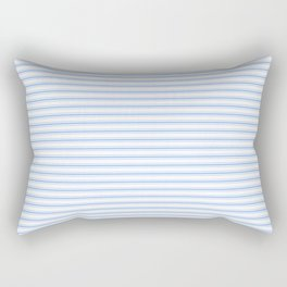 Mattress Ticking Narrow Striped Pattern in Pale Blue and White Rectangular Pillow