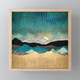 Peacock Vista Framed Mini Art Print