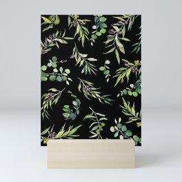 Eucalyptus and Olive Pattern  Mini Art Print