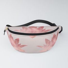 Pink Lotus Flower | Watercolor Texture Fanny Pack