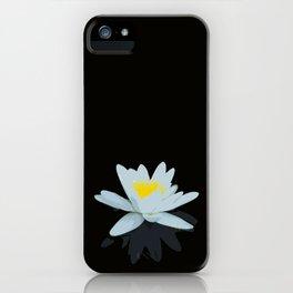 Waterlily Flowers On Black Background #decor #society6 #buyart iPhone Case