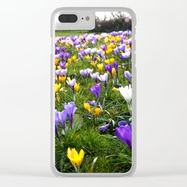 Lost in Crocuses Clear iPhone Case