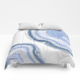 Airy Blue Agate Comforters