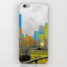 Windy City Cloudy Day iPhone & iPod Skin