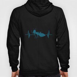 Ant heart line | heartbeat ECG insects breeder Hoody