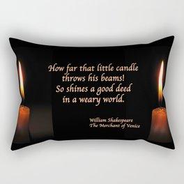 Shakespeare Candle Flame Rectangular Pillow