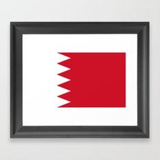 Flag Of Bahrain Framed Art Print