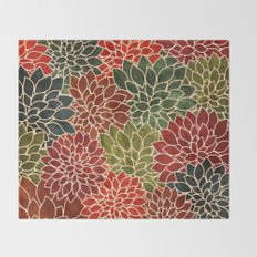 Floral Abstract 7 Throw Blanket
