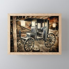 Vintage Horse Drawn Carriage Framed Mini Art Print
