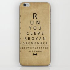 Run You Clever Boy - Doctor Who Vintage Eye Exam Chart iPhone & iPod Skin