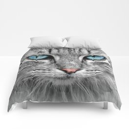 Cat Face Comforters