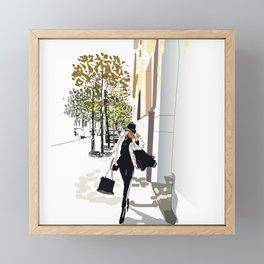 Autumn Girl Framed Mini Art Print