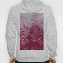 Magenta Love, abstract acrylic fluid painting Hoody