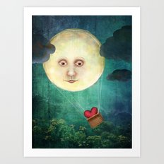 Love you to the Moon Art Print