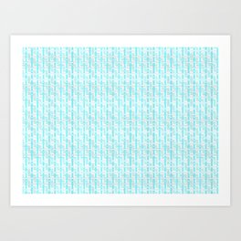 Icy Blue Zig Zag Weave Art Print
