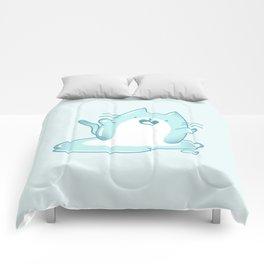 Kawaii Ice melting cat Comforters