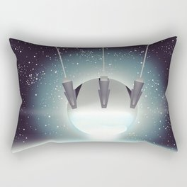 Sputnik Space Race Poster Rectangular Pillow