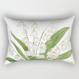 white lily of valley Rectangular Pillow