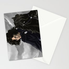Riding in a greyish day Stationery Cards